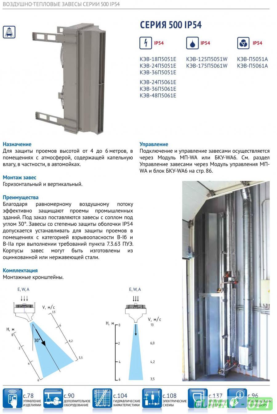 Тепловая завеса для автомоек максимальная высота монтажа 6 м