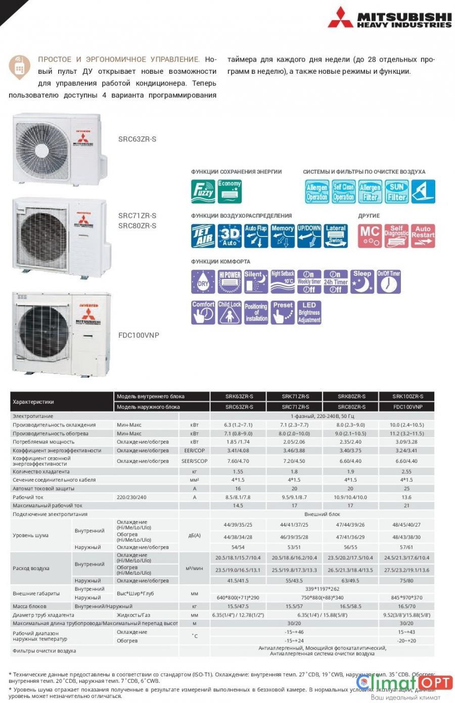 Mitsubishi Heavy Industries SRK-ZR-S Inverter (Звоните, Скидки!)