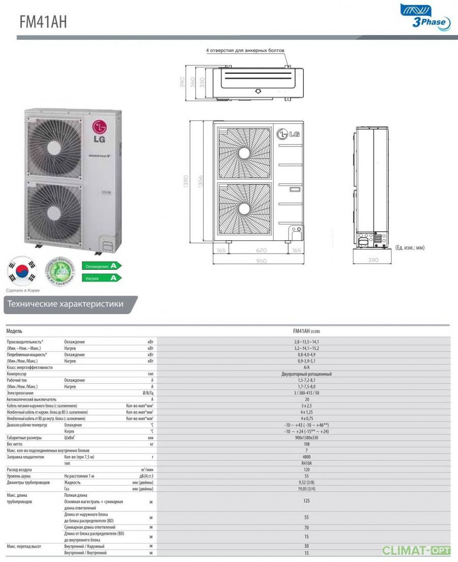 Наружные блоки LG Multi-FDX Inverter R410 Корея