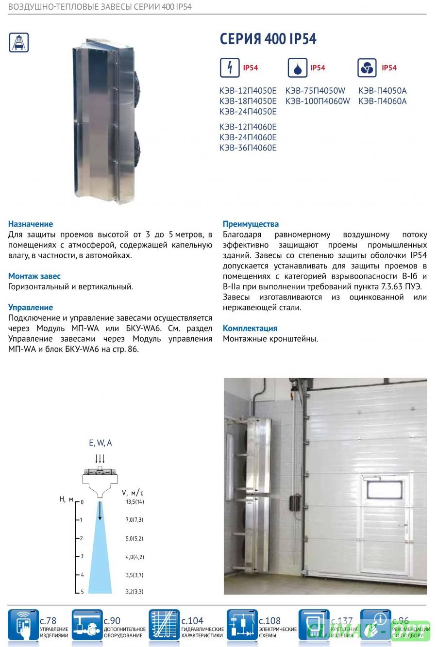 Тепловая завеса для АВТОМОЕК IP54 корпус из Нержавеющей стали
