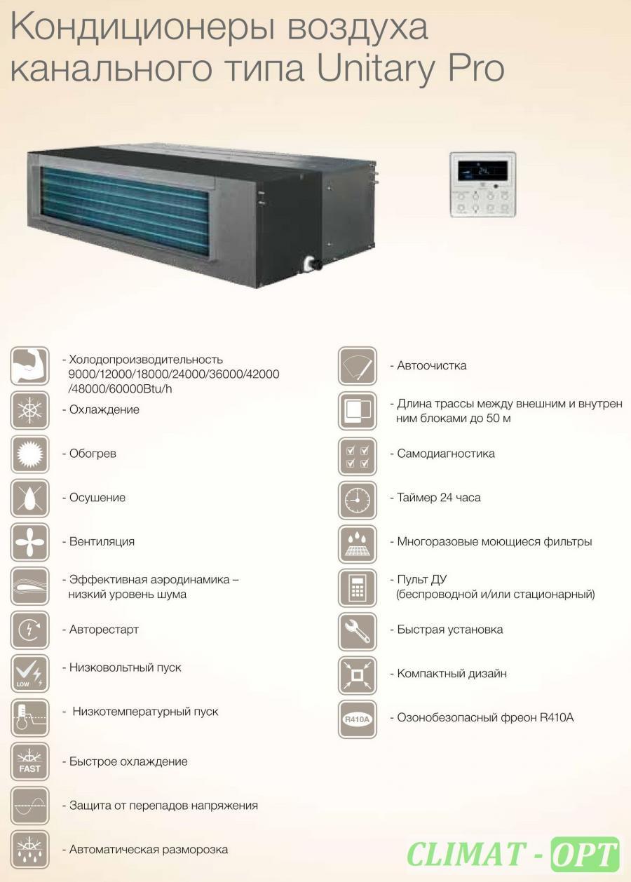 Канальный кондиционер Electrolux Unitary PRO EACD_H