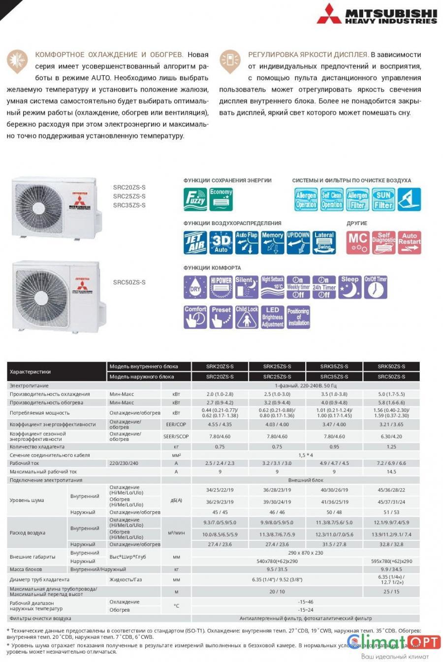 Mitsubishi Heavy Industries SRK-ZS-S Inverter (Звоните, Скидки!)