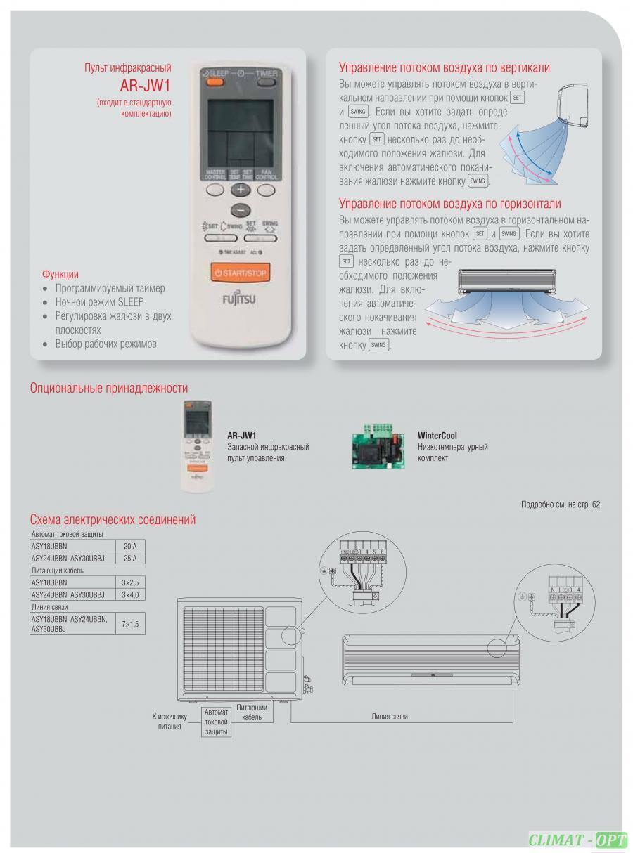 Кондиционер настенного типа Fujitsu CLASSIC