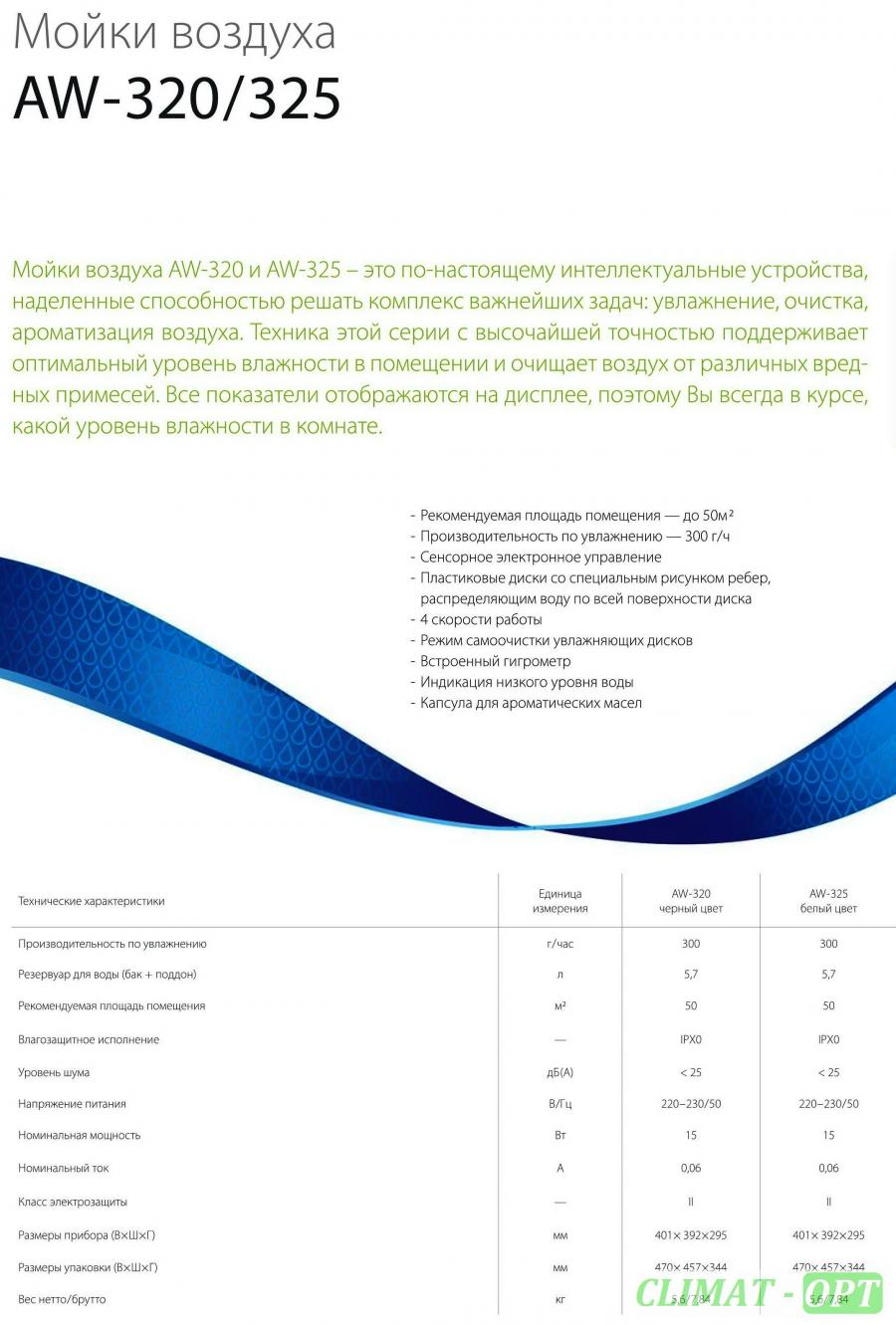 Мойка воздуха Ballu AW-325 white/белая