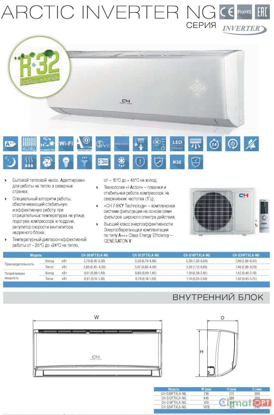 Cooper&Hunter Arctic WIFI Inverter R32 New 2018 (Акция на установку)