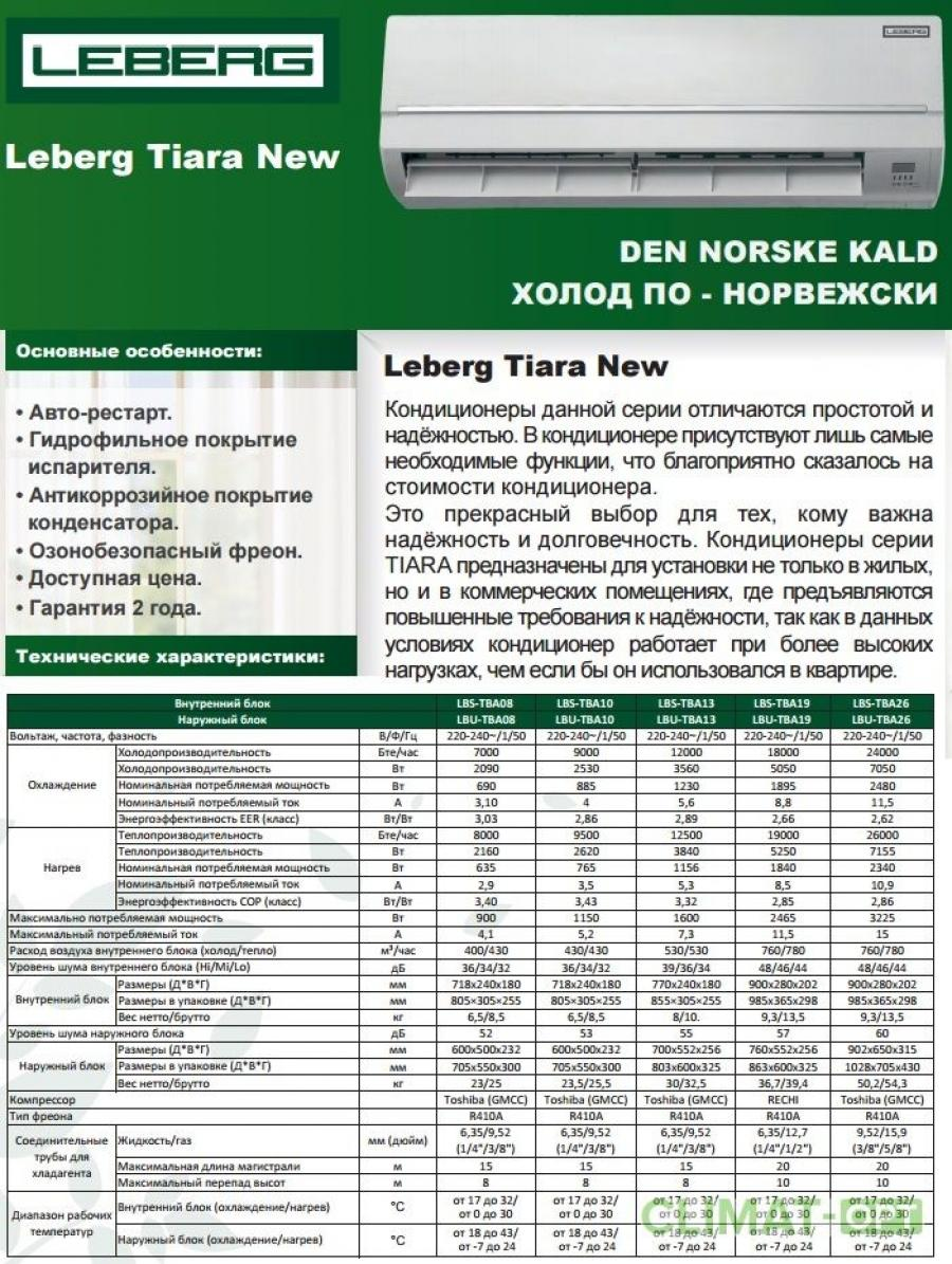 Leberg Tiara R410 New