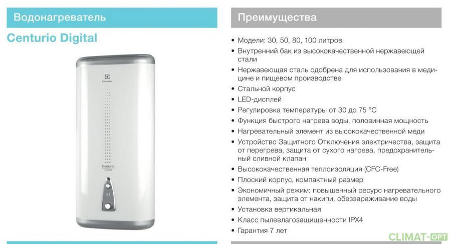 Водонагреватель Electrolux EWH Centurio Digital